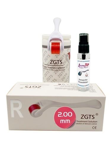 Zgts Dermaroller 2.00 mm Orijinal Titanyum 540 İğneli Derma Roller Saç Yüz Vücut Bakımı Renksiz